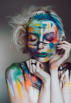 When it looks like art! Photography by SIS, Model Charlottte, Makeup by Joanna Strange / Portfolio hosting and networking for models, photographers and related crea. Make Carnaval, Art Visage, Make Up Art, Fx Makeup, Body Makeup, Photo Makeup, Makeup Tips, Hair Makeup, Mode Editorials