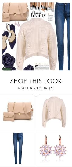 """""""Chunky Sweater"""" by pastelneon ❤ liked on Polyvore featuring Olsen"""
