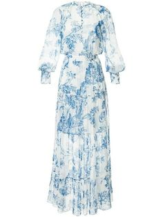 Shop online white Oscar de la Renta floral toile pintuck tiered dress as well as new season, new arrivals daily. Modest Fashion, Fashion Outfits, Fasion, Fashion Clothes, Women's Fashion, Designer Cocktail Dress, Cocktail Dresses, Evening Dresses, Summer Dresses