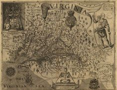 Historic Map of Virginia - 1624