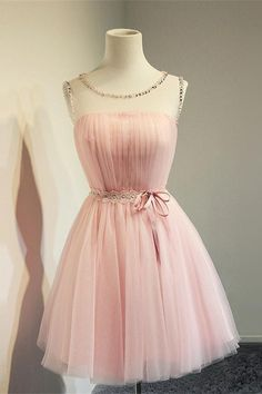 Cute Girly Pink Simple Handmade Short Homecoming Dresses K246 Ruhák  Diplomaosztóra 226f11a61c
