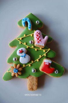 xmas tree cookie
