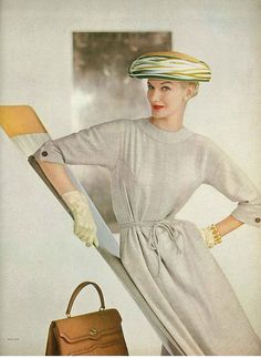 Sunny Harnett photographed by John Rawlings for Vogue (March 1956).