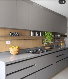 Simple Kitchen Design, Luxury Kitchen Design, Kitchen Room Design, Kitchen Layout, Home Decor Kitchen, Interior Design Kitchen, Modern Kitchen Interiors, Modern Kitchen Cabinets, Kitchen Cupboard Designs