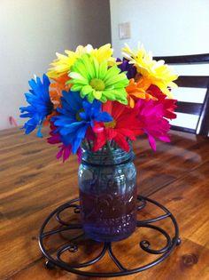 Flowers. #rainbow #party