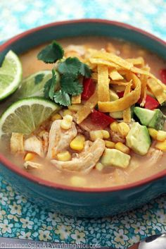 Chicken Tortilla Soup - Sopa de tortilla, Mexico.