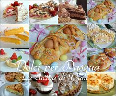 Dolci per Pasqua e Pasquetta, una raccolta golosa di dolci da fare per le festività pasquali, dolci tradizionali e non. Ricette facili per dolci pasquali Mini Desserts, Cheesecake Desserts, Italian Desserts, Italian Recipes, Dessert Recipes, Easter Traditions, Finger Foods, Christmas Holidays, Buffet