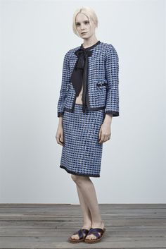 Tweed Straight Skirt with Silk Trim - Marc Jacobs - Shop marcjacobs.com - Marc Jacobs