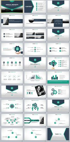 30+ Slide Blue Annual Report PowerPoint templates