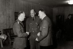 Ion Antonescu and Adolf Hitler Met for the Last Time - Romanian Head of State General Ion Antonescu (left) visits Adolf Hitler for the last time at the Führerhauptquartier Wolfsschanze, Rastenburg, August 5, 1944. In the middle is the interpreter.
