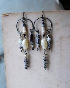 Chandelier Earrings  Rustic Beaded Earrings  by shipwreckdandy, $41.00