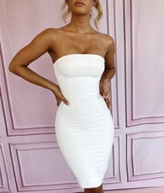 The Rinah strapless dress. Sho