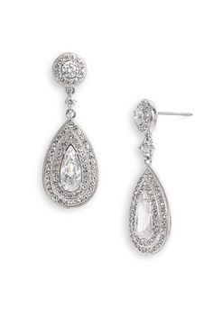 My favorite drop earrings for a special night out. These are even more brilliant in person!