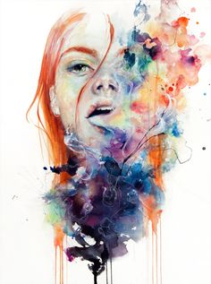 Ethereal Watercolor Portraits by Agnes Cecile - she has time lapse videos on youtube