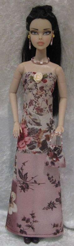 Dynamite Girls MONSIEUR Z Poppy Parker Doll Clothes #15 Dress, Purse, Jewelry #HandmadebyESCHdesigns