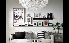 Ikea picture shelf, love the alphabet poster