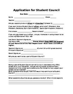 Student Council Leadership Lessons  Goal Setting Sheet Student