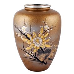Japanese Metal Enamelled Vase