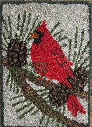 Country Threads :: Punch Needle Embroidery :: Cardinals in the Pines Punchneedle Kit from Crane Design