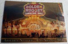 Golden Nugget Las Vegas Downtown 3D Lenticular Postcard 1970 and 2011