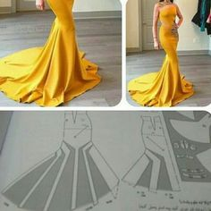 Best 11 Need to study more. Would be awesome in burgundy satin with a sheer b… – awesome burgundy costura Costurafacil cute – SkillOfKing. Mermaid Dress Pattern, Gown Pattern, Sleeve Pattern, Skirt Patterns Sewing, Clothing Patterns, Skirt Sewing, Pattern Sewing, Diy Clothing, Sewing Clothes