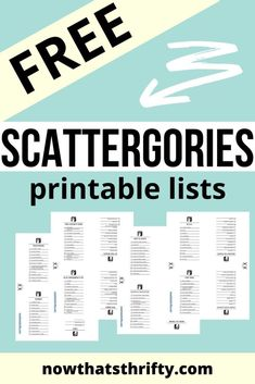 These FREE printable Scattergories lists are the perfect addition to your game. These printables include 16 different categories. Family Fun Games, Family Game Night, Fun Group Games, Summer School, School Fun, Sunday School, Middle School, Scattergories Lists, Bible Games