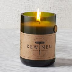5 Favorite Gift Ideas: Rewined candles smell delicious and are made using recycled wine bottles. (Also come in a really cute drawstring bag, ready to gift!)