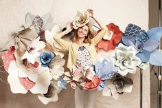 Lots of giant paper flowers...I am all over this debutante planning! LOVE!
