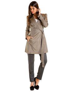 Love this! D Tan Tie Coat