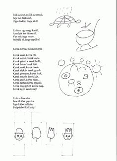 Fejlesztő Műhely: Fejlesztő ötletek Drawing School, Stories For Kids, Preschool Activities, Kindergarten, Poems, Homeschool, Crafts For Kids, Diagram, Bullet Journal
