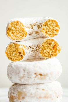 Fluffy Amazing Vegan Powdered Donuts - HealthyHappyLife.com