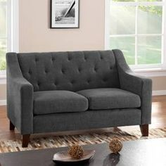 Felton Tufted Loveseat Pewter - Threshold™ : Target