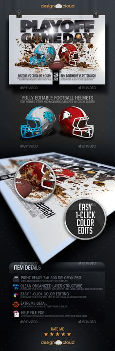 Sunday Night Football Super Bowl Flyer Template by joekrow