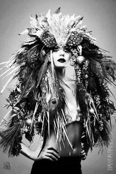 secretagentstarchild:  Stunning headdress. Wow.