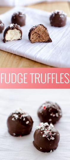 Fudge Truffles | homemade truffles | chocolate truffles | how to make truffles | holiday dessert recipes | holiday treat recipes | Christmas dessert recipes | Christmas treat recipes || Oh So Delicioso #truffles #fudgetruffles #homemadetruffles #holidaytreats