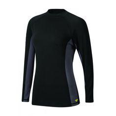 c754abd5 Speedo Women's Rashguard Endurance Lite Fitness Long Sleeve Black Bathing  Suit Dress, Swim Dress,