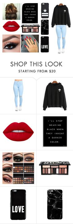 """""""Untitled #59"""" by duhitsemma21 on Polyvore featuring Lime Crime, Stupell, Kat Von D, Givenchy, Harper & Blake, black, polyvoreeditorial and polyvorefashion"""