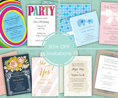 Happy Summer! From June 2nd - June 21st enjoy 30% OFF all PrintsWell invitations!