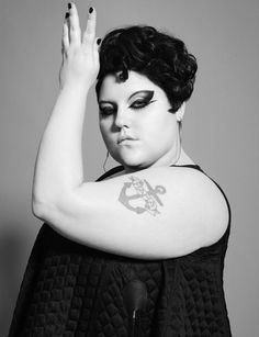 Beth Ditto.  She's about the same body type as I am.  :)