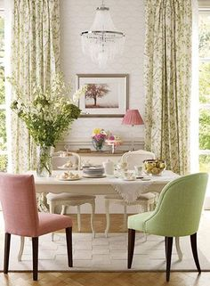 Laura Ashley Dining Table And 6 Chairs Addington Dining Chair In Dalton  Cyclamen Aldwick Dining Chair In Edwin Apple Laura Ashley Garrat Dining  Table And ...