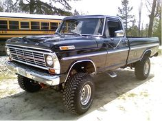 A nice late 60's early 70's Ford. Solid axles and big cubic inch motor. Gotta love it!!!