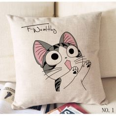 18 Kawaii cheese cat coarse cotton and linen hold by sunnybeauty, $9.99