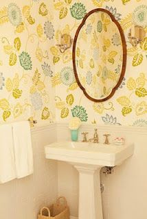wallpaper - Thibaut mimosa