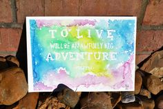 Peter Pan Quote - Disney Inspired Handpainted Watercolor