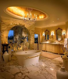 Mediterranean Master Bathroom - Come find more on Zillow Digs!