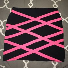 Neon Pink Bandage Bodycon Skirt Worn a couple of times and absolutely love it! Just grew out of it! Would love to see it go to a new closet :)  *Willing to bundle with other bodycon skirts/dresses upon request!* Forever 21 Skirts