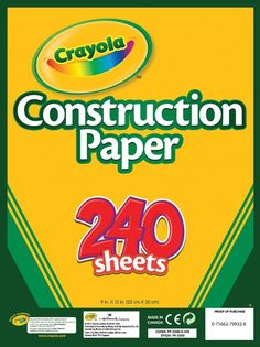 #amazon Crayola Construction Paper, Assorted Colors, 240 Sheet (99-3200) - $5.28…