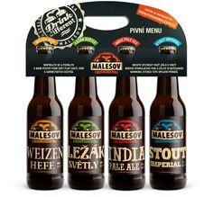 Graphic design for Malesov brewery
