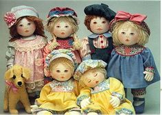 The Oregon RagBabies--I love these ragdoll patterns! Easy to understand directions; directions for embroidered or colored pencil/painted faces. They are so adorable!