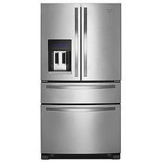 Whirlpool- -25.0 cu. ft. French Door Refrigerator w/ Refrigerated Drawer - Stainless Steel ENERGY STAR®